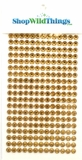 Round Diamond Sticker Strips - Antique Gold 6mm - 247 Diamonds