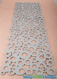 "Runner Felt - ""Circles"" Design - Gray 13x48"""
