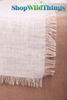 "Runner Jute Fringed - Ivory 20x90"" - Tight Weave, Highest Quality"