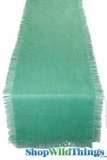 "Runner Jute Fringed - Sea Green 20x90""  - Tight Weave, Highest Quality"
