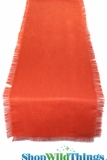 "Runner Jute Fringed - Tangerine 20x90""  - Tight Weave, Highest Quality"