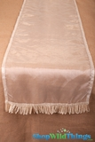Runner Sheer w/Ribbon Border - Ivory 16x72""