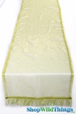 Runner Sheer w/Ribbon Border - Lime 16x72""