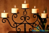 Scroll Candelabrum - Dark Brown Metal - 5 Candle Holder (on Hit TV Show 30 Rock!)
