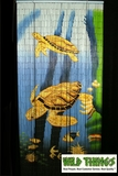 Sea Turtles 90 Strand Painted Bamboo Beaded Curtains