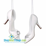 Shoe Ornaments - White High Heels, 2 Assorted!