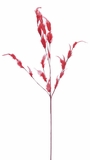 Feather Spray w/Multiple Stems - Red - 30""