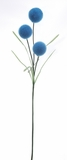 Decorative Fuzzy Ball Stem - Turquoise