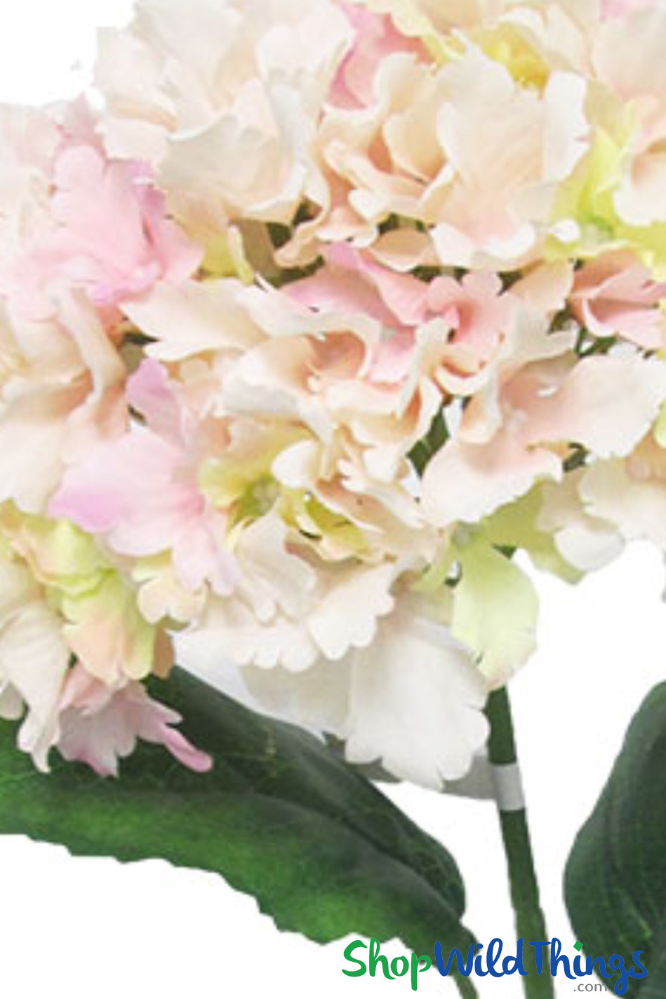"Silk Hydrangea Bloom Blush Pink - Deluxe 6"" Flower - Minimum 6pcs"