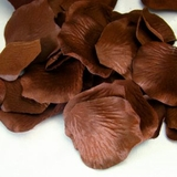 Silk Rose Petals - Chocolate Brown Mix- Bag of 200 pcs