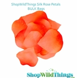 Silk Rose Petals - Orange Umbre - Bag of 300 pcs