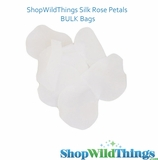 Silk Rose Petals - Pure White - Bag of 300 pcs
