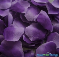 Silk Rose Petals - Purple Two Toned- Bag of 400 pcs