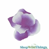 Silk Rose Petals - Purple & White - Bag of 300 pcs
