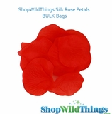 Silk Rose Petals - Red - Bag of 300 pcs
