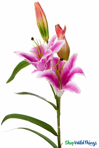Silk Tiger Lily 37 Quot Purple Centerpiece Flower