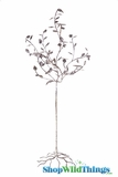 "Tree ""Brandenburg"" 5.5 Feet Tall - Wire Leaf Candle Tree - Antique Silver"