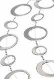 Silver Loop Garland - Very Large Bright Silver Circles