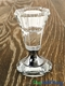 "Real Crystal Candlestick Holder ""Modena"" Silver - 3 1/8"""