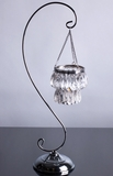 """""""Sophie"""" Swirled Stand 21.5"""" w/ Hanging 2-Tiered Crystal Candle Holder"""