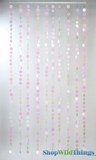 Spangles Beaded Curtain - Iridescent  3' x 6'