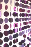 """Spangles"" PVC Circles Beaded Curtain - Metallic Purple Mix"