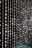 """Sparkles"" Beaded Curtain - Bright Metallic Silver"