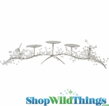 """Sparkling Beaded 5 Candle Centerpiece """"Tera"""" - 24"""""""