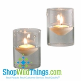 "Special Buy Sale! Cylinder Hanging Votive Holder Set of 4  ""Loree""  (4""  x 3"" )- Hanging or Standing!"