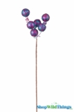"Spray 24"" Long Striped Glitter Balls Purple/Fuchsia/ Turquoise"