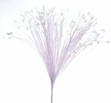 "Spray, Onion Grass Bush White Iridescent 28"" - Extra Wide"