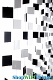 Squares Beaded Curtain - Black & White - 3 ft x 6 ft