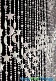 Stars & Moons Beaded Curtain - Glow Dark - 3 ft x 6 ft