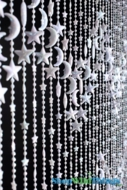 Stars & Moons Beaded Curtain - White - 3' x 6'