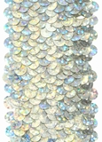 Stretchable Sequin Trim -  Holographic Champagne - 30 Feet