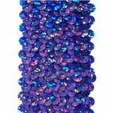 Stretchable Sequin Trim -  Holographic Purple - 30 Feet
