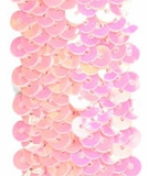 Stretchable Sequin Trim -  Iridescent Pink - 30 Feet