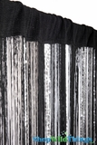 "String & Bespanged Sequin Mix Curtain 36"" x  88"" Black & Gray"