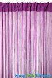 String Curtain Amethyst 3 ft x 7.3 ft - Rayon