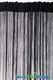 Clearance - String Curtain Black 3 ft x 7.3 ft - Rayon
