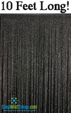 String Curtain Black with Silver Lurex - 3 ft x 10 ft
