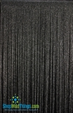 String Curtain Black with Silver Lurex  - 18 Strings Per Inch! - 36  x 90