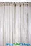 String Curtain Celery 3 ft x 7.3 ft - Rayon