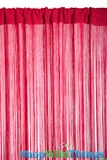 String Curtain Cherry Red 3' x 7.3' - Rayon