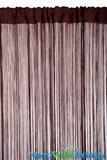 String Curtain Chocolate Brown 3' x 7.3' - Rayon