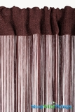String Curtain Chocolate Brown 3 ft x 7.3 ft - Rayon