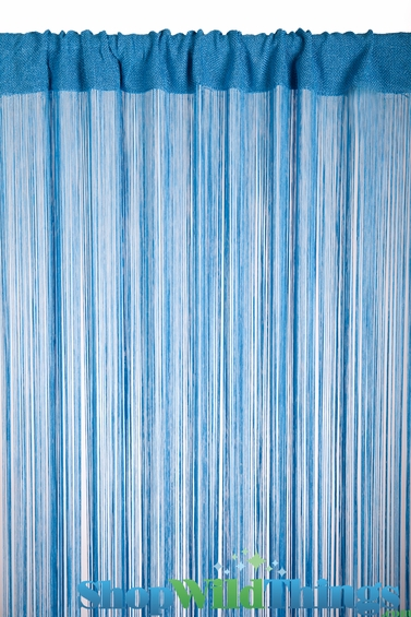 String curtain cobalt blue 3 ft x 7 3 ft rayon