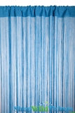 String Curtain Cobalt Blue 3 ft x 7.3 ft - Rayon