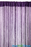 String Curtain Deep Purple 3 ft x 7.5 ft - Rayon