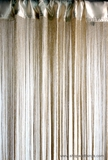 "String Curtain Gold 18 Strings Per Inch - 36""  x 88"" Rayon & Shiny Lurex"